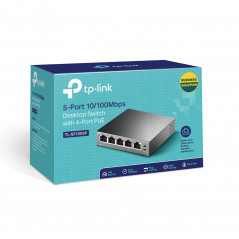 TP LINK TL SF1005P switch No administrado Fast Ethernet 10 100 Negro Energia sobre Ethernet PoE