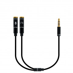 Ewent EC1641 cable de audio 03 m 35mm 2 x 35mm Negro