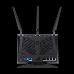 ASUS GT AC2900 router inalambrico Doble banda 24 GHz 5 GHz Gigabit Ethernet Negro