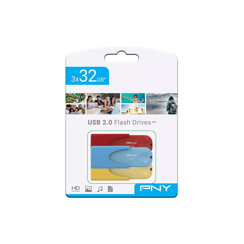 TRIPLE PACK 3x32GB USB20 LIMITED EDITION PNY