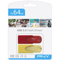 TWIN PACK 2x64GB USB20 LIMITED EDITION PNY