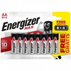 BLISTER 8 4 PILAS MAX TIPO LR6 AA ENERGIZER
