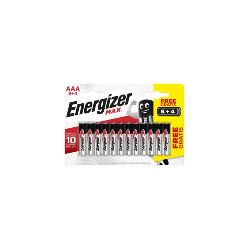 BLISTER 8 4 PILAS MAX TIPO LR03 AAA ENERGIZER