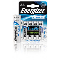 BLISTER 4 PILAS ULTIM LITHIUM TIPO L91 AA ENERGIZER