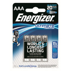 BLISTER 4 PILAS ULTIM LITHIUM TIPO L92 AAA ENERGIZER