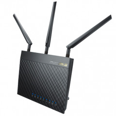ASUS RT AC66U router inalambrico Doble banda 24 GHz 5 GHz Gigabit Ethernet Negro