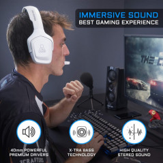 AURICULARES GAMING COBALT BLANCO THE G LAB